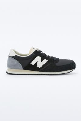 new balance 420 grey and black suede trainers