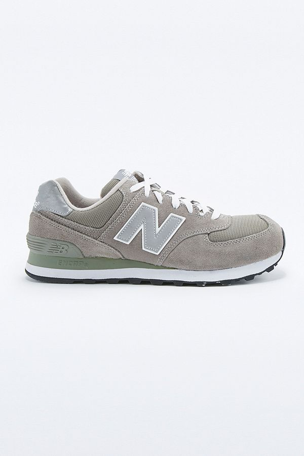 separation shoes 80c09 5a82d New Balance 574 Classic Grey Suede Running Trainers