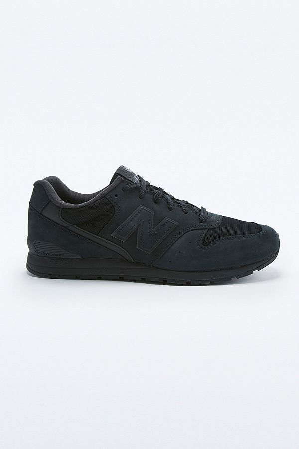super popular ea531 b8475 New Balance 996 Black Tonal Suede Trainers | Urban Outfitters UK