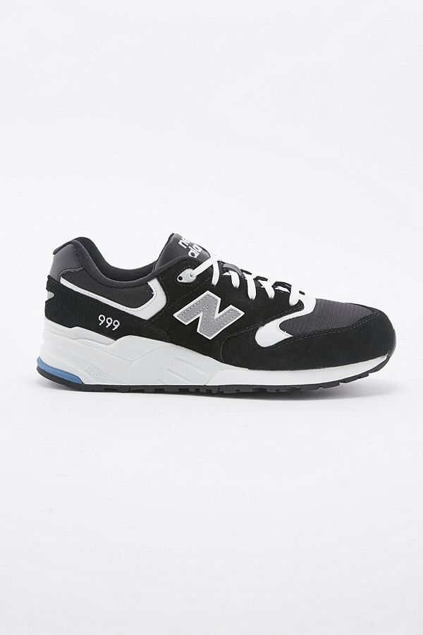 new style 2a817 5ebe7 New Balance 999 Black and White Trainers
