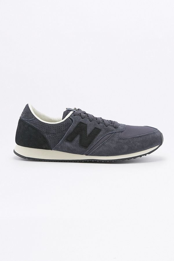 New Balance 420 Ripstop Navy and Black Trainers