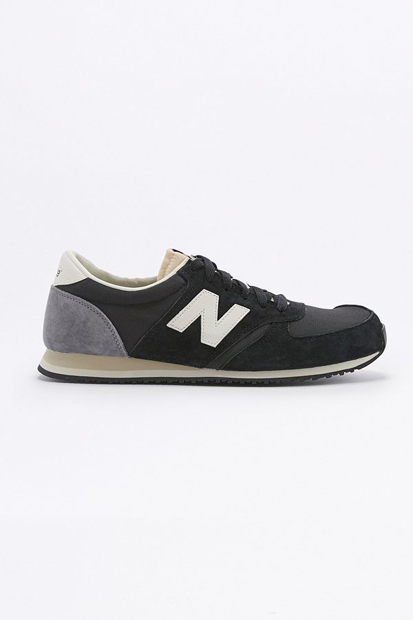 New Balance 420 Ripstop Black and Grey Trainers
