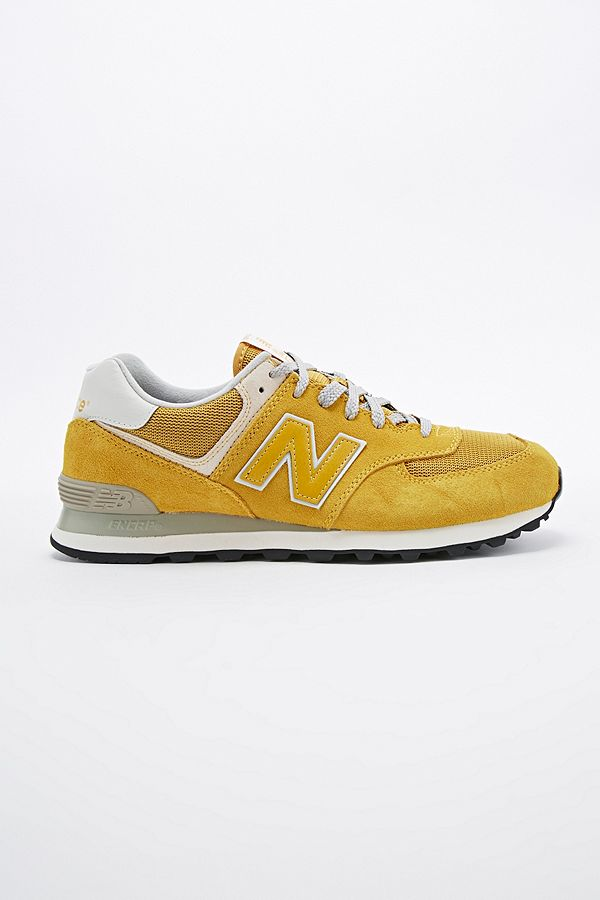 online store f3e38 3d107 New Balance 574 Classic Running Trainers in Mustard | Urban ...