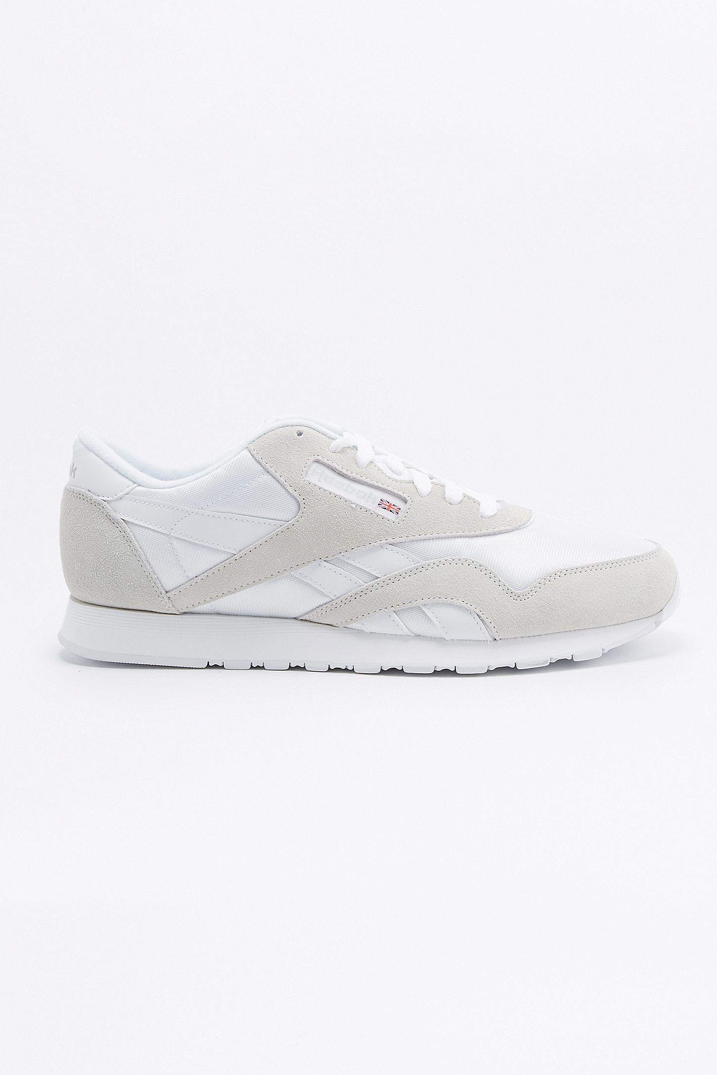 48b516cd2f8 Reebok Classic Nylon Premium Suede Chalk White Trainers. Click on image to  zoom. Hover to zoom. Double Tap to Zoom