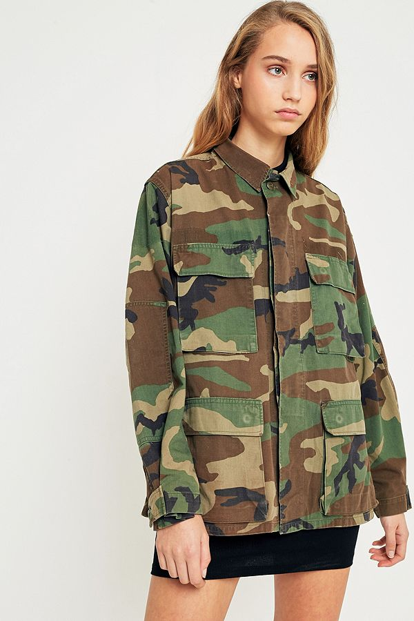 7fc96db65b617 Urban Renewal Vintage Originals Camo Jacket | Urban Outfitters UK