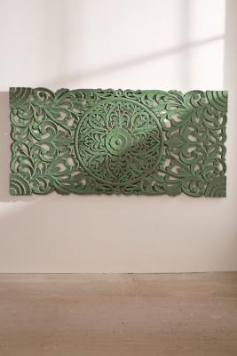 sienna-carved-green-headboard by urban-outfitters