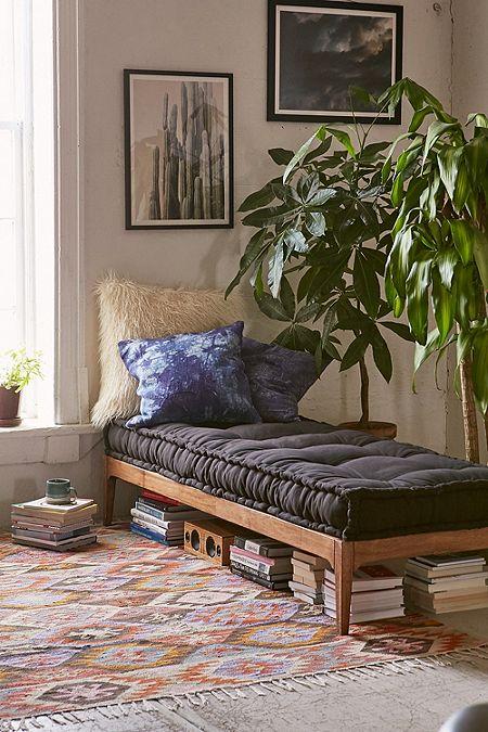 Rattan Stool With Cushion