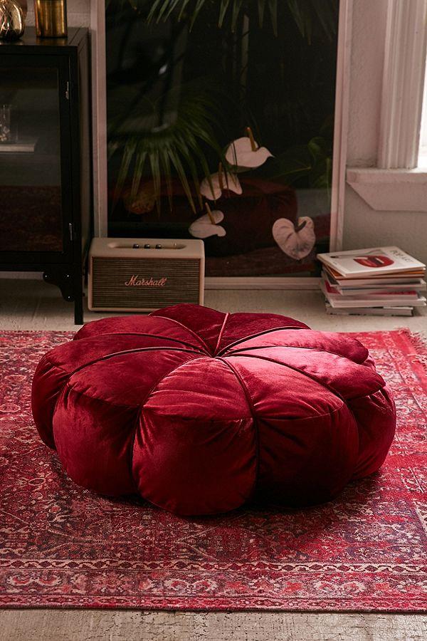 Clarice Velvet Maroon Floor Pillow