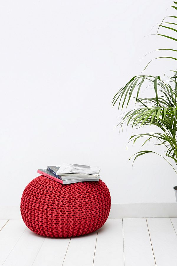 Cool Red Knitted Bean Bag Chair Urban Outfitters Uk Ncnpc Chair Design For Home Ncnpcorg