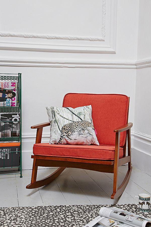 Pleasing Mid Century Orange Rocking Chair Unemploymentrelief Wooden Chair Designs For Living Room Unemploymentrelieforg