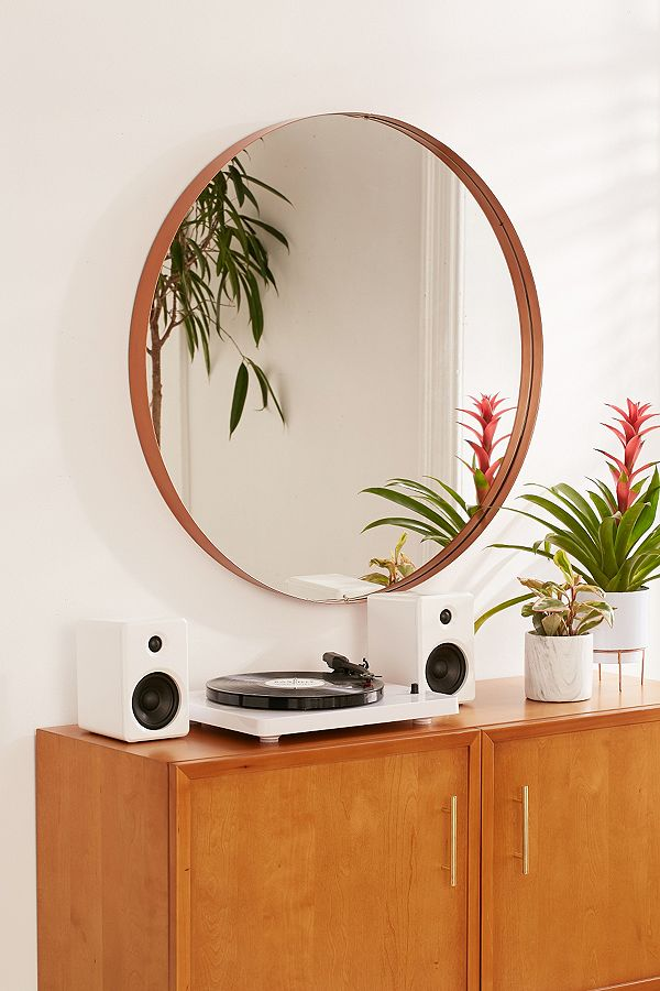 Averly Large Copper Circle Mirror