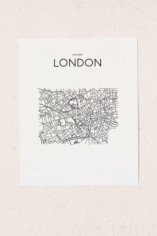 London City Map Printable.Printable Market London City Map Wall Art Print
