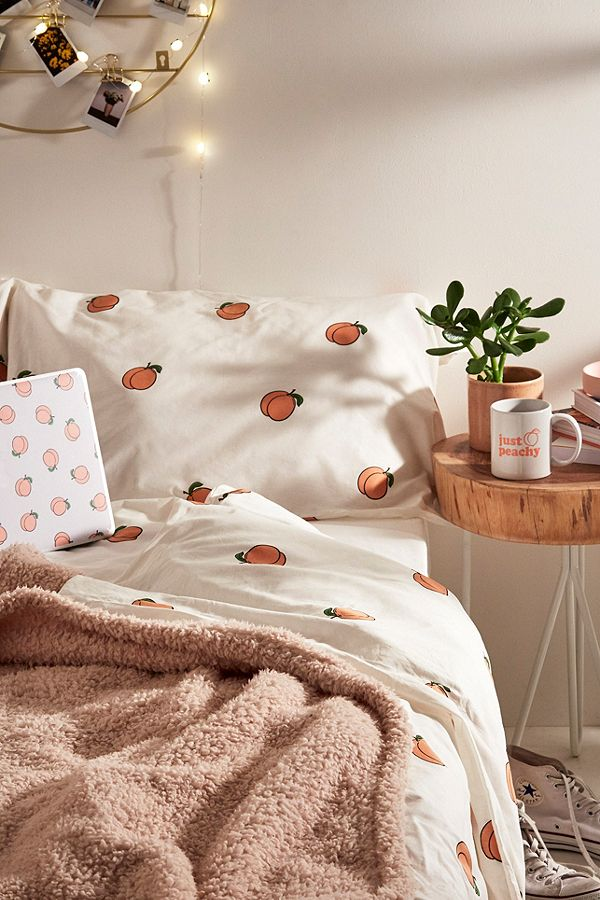 Peach Duvet Cover Set Urban Outfitters De