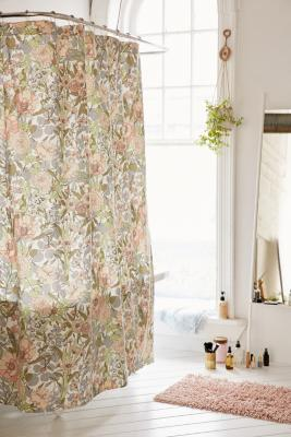 Plum Bow Cecilia Floral Shower Curtain Urban Outfitters Uk