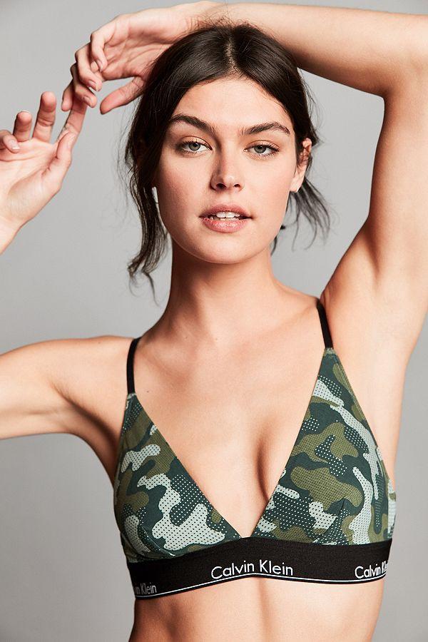 variousstyles genuine most reliable Calvin Klein Modern Cotton Camouflage Triangle Bra
