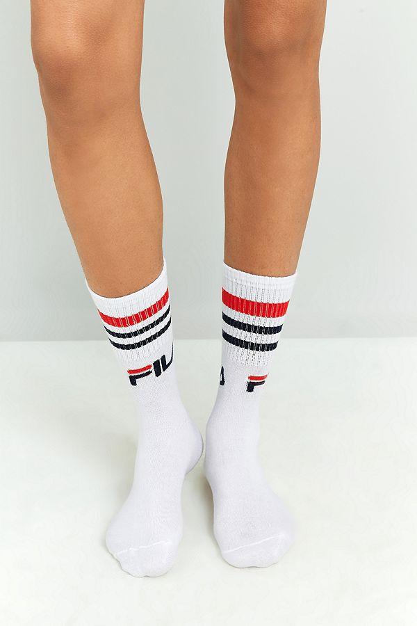 FILA Plain White Socks 3 Pack
