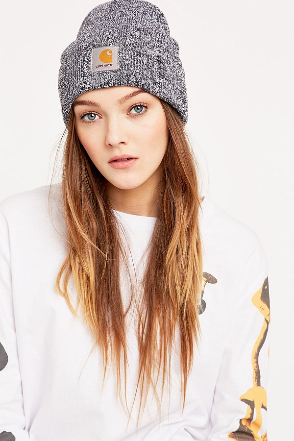 9ab8d63ec08c9 Carhartt Navy and White Scott Watch Beanie | Urban Outfitters UK