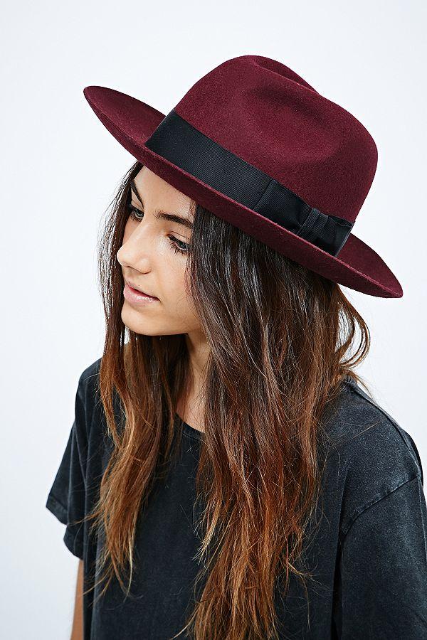 9cab40e40ef Christys  Grosvenor Fedora Hat in Burgundy