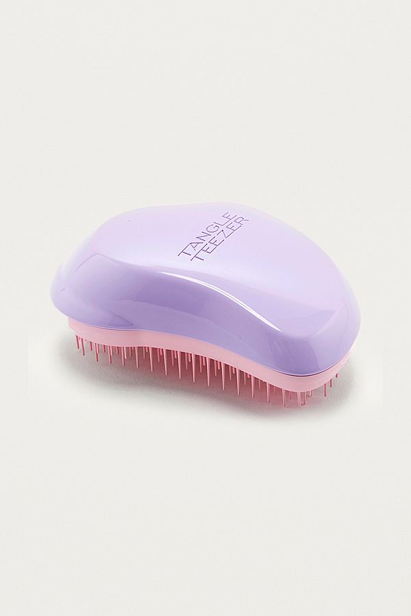 uo exclusive tangle teezer lilac and white hairbrush | urban