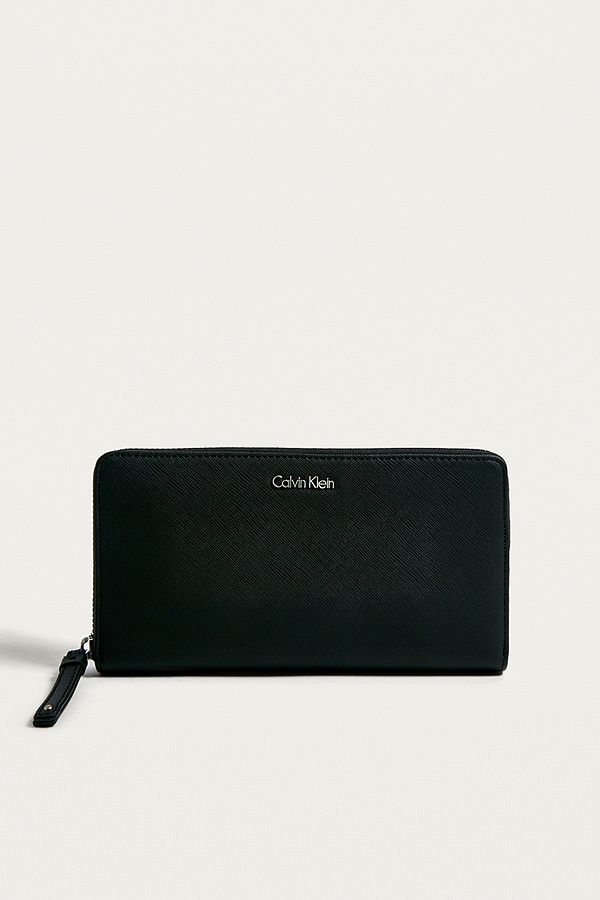 bb0fdb248a Calvin Klein Marissa Black Zip-Around Wallet | Urban Outfitters UK