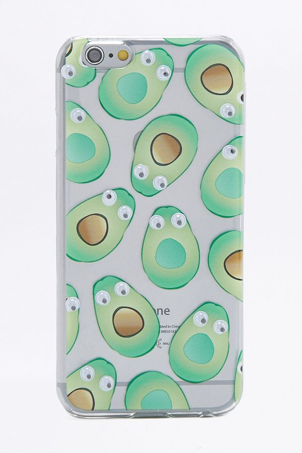 detailing 24a49 df08a Skinnydip Googly Eye Avocado iPhone 6 Plus Case