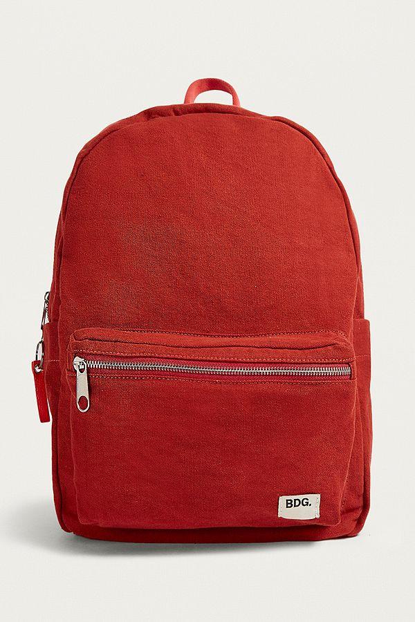 style populaire sélectionner pour l'original convient aux hommes/femmes BDG - Sac à dos en toile rouge