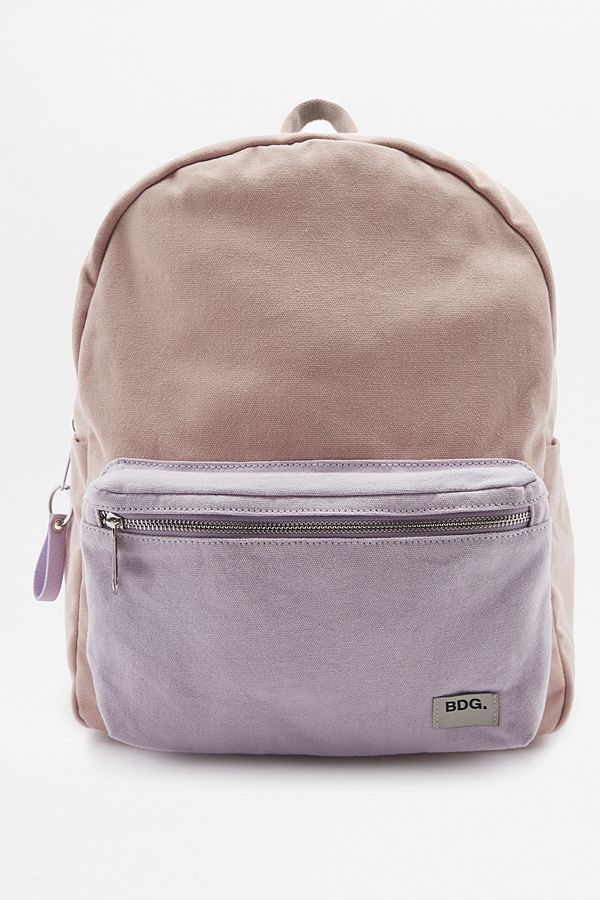 cb3d0a820 BDG Two-Toned Canvas Backpack | Urban Outfitters UK