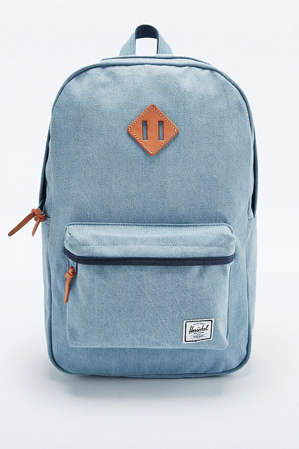 2a946e0185e Slide View  1  Herschel Supply co. Heritage Backpack in Light Blue Denim