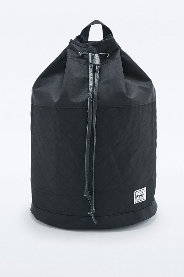 234ce831e63 Herschel Supply co. Hanson Black Quilted Backpack