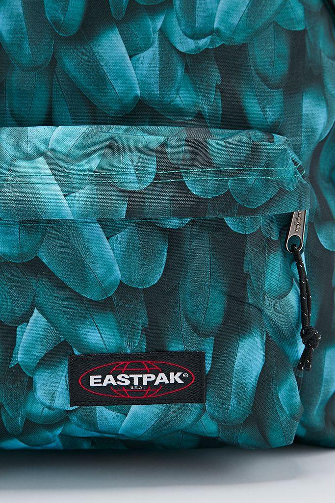 Eastpak Sac à dos Pak'R rembourré imprimé plumes sarcelle