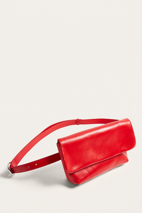 84bc1e6e71c45 Vagabond Copenhagen Red Leather Bum Bag | Urban Outfitters UK