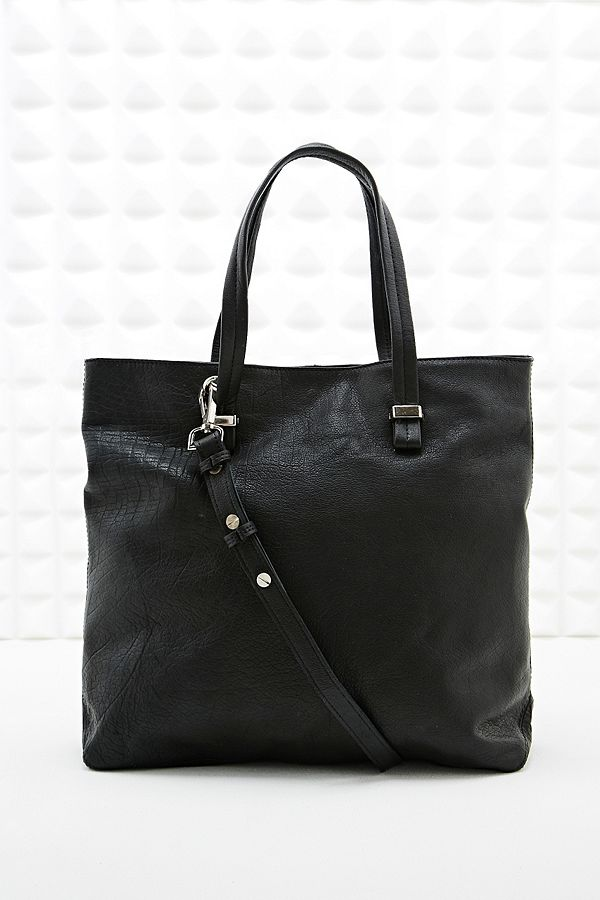 69eab766ff Deena & Ozzy Leather Shoulder Bag in Black | Urban Outfitters UK
