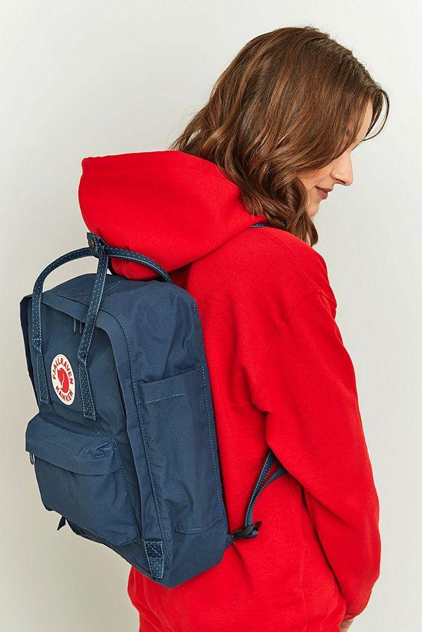 9751c531b Fjallraven Kanken Royal Blue Pinstripe Backpack | Urban Outfitters UK