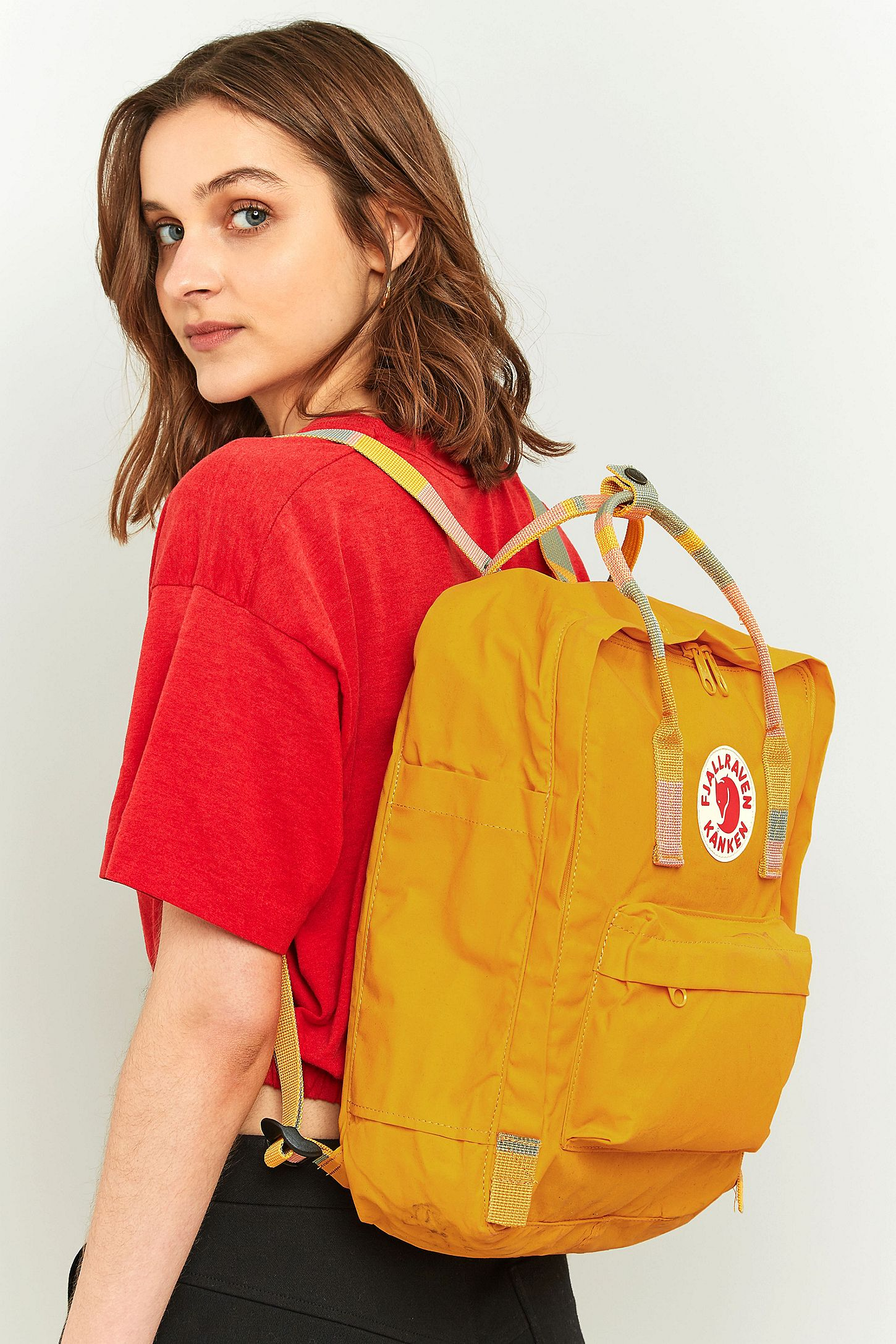 a9f58b7cdbe8 Fjallraven Kanken Warm Yellow Stripe Handle Backpack. Click on image to  zoom. Hover to zoom. Double Tap to Zoom