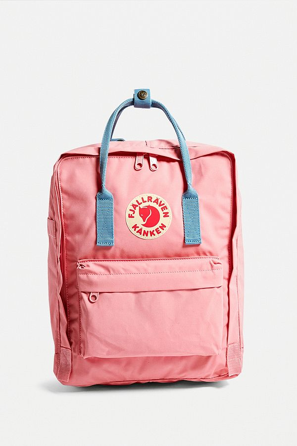 97b4bca11144f Slide View  2  Fjallraven Kanken Pink + Air Blue Backpack