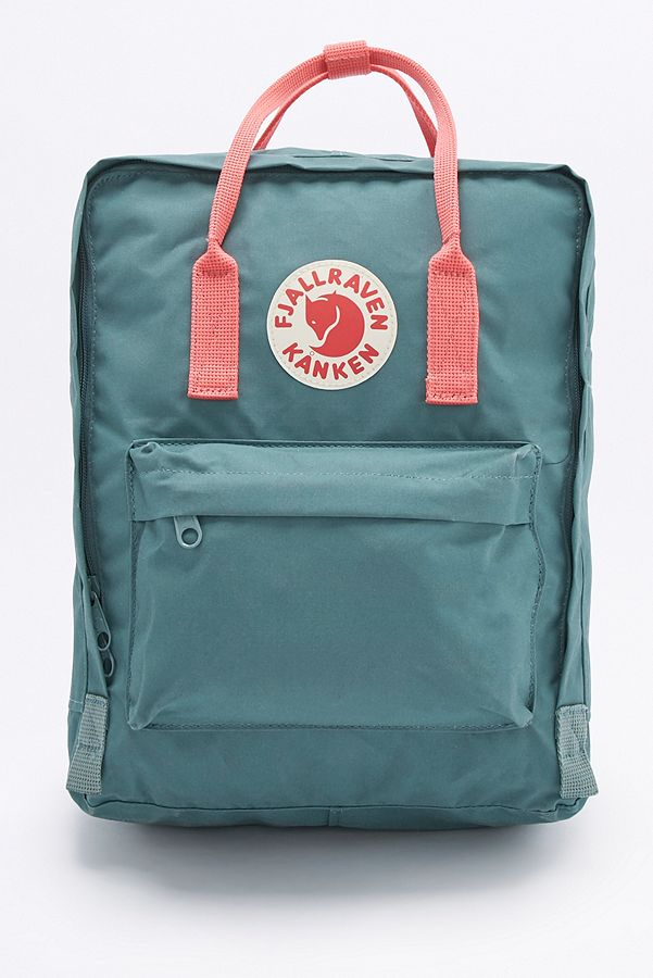 443aedbe6b1 Fjallraven Kanken Classic Forest Green and Pink Backpack | Urban ...