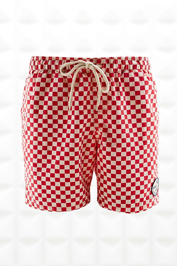 3e98876c0a Vans Checkerboard Swim Shorts in Red and White | Urban Outfitters UK