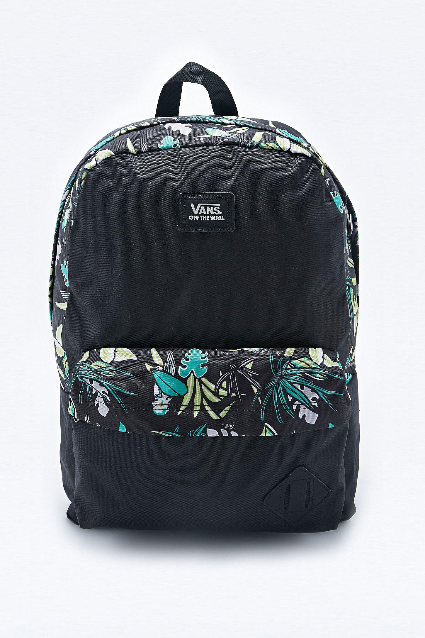 Vans Old Skool Tropical Backpack in Black
