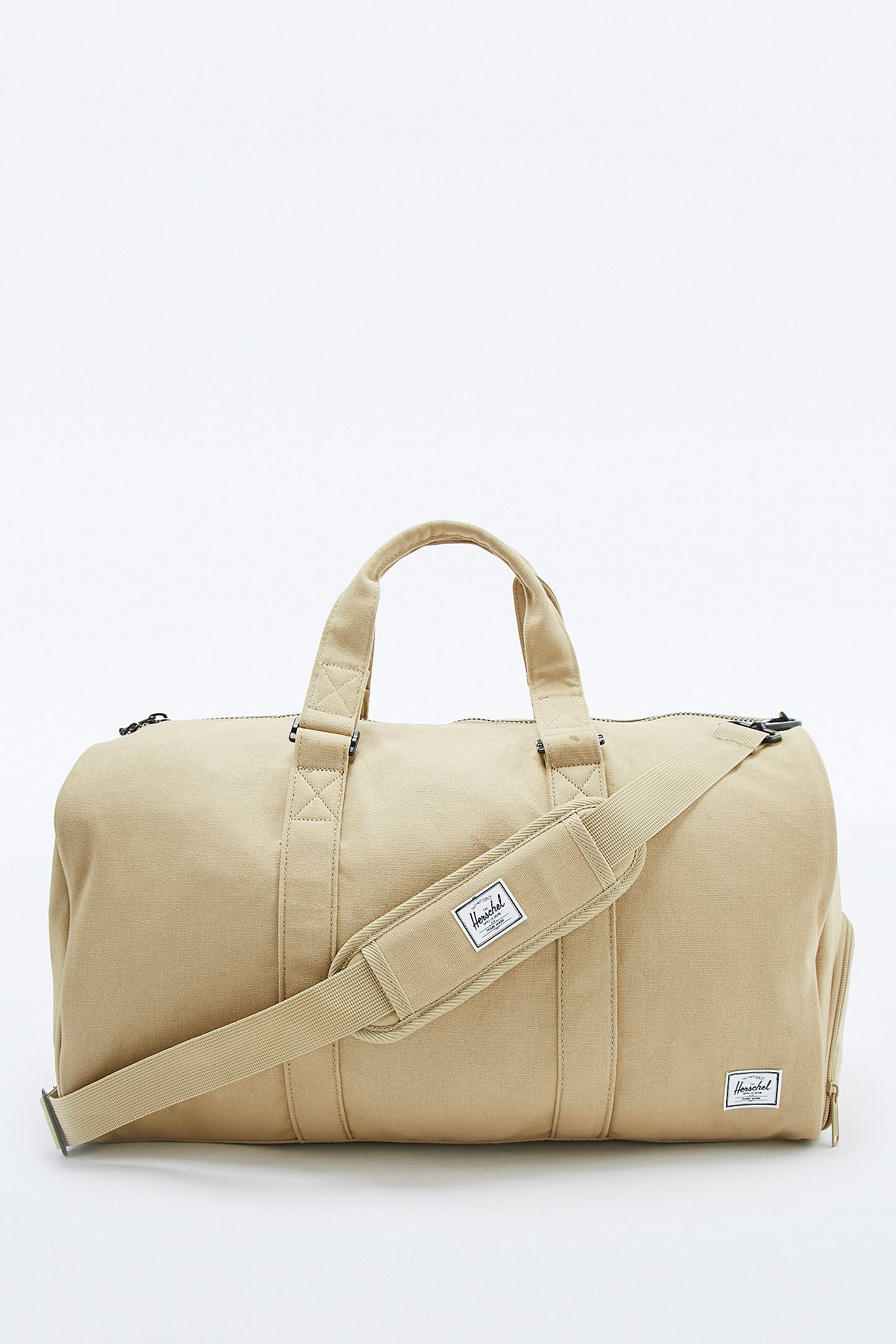 00a36b19559 Herschel Supply co. Novel Cotton Canvas Beige Holdall Bag