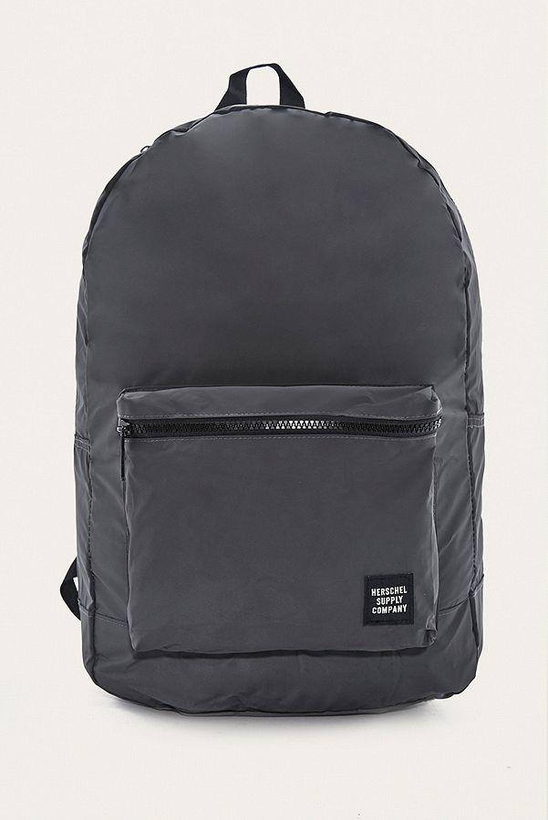 6e01eae8c15 Herschel Supply Co. Reflective Black Packable Daypack Backpack ...