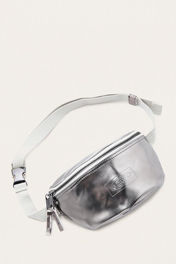 neue Version damen Brandneu Eastpak Springer Silver Metallic Cross Body Bag