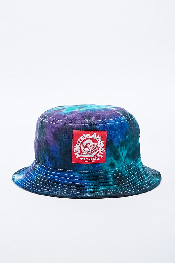 25712c2f977078 Milkcrate Athletics Tie Dye Bucket Hat in Blue and Purple | Urban ...