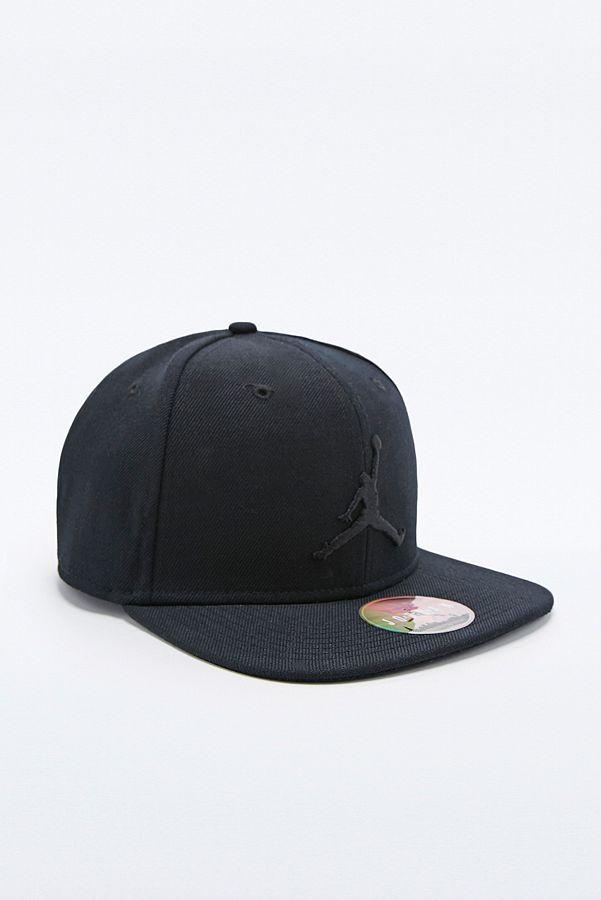 4ecc6f7f823 Nike Jordan Jumpman Snapback Cap in Black