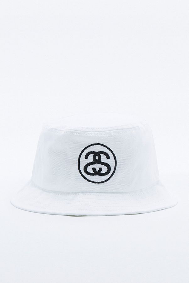 53a48b337316e2 Stussy Link White Bucket Hat | Urban Outfitters UK