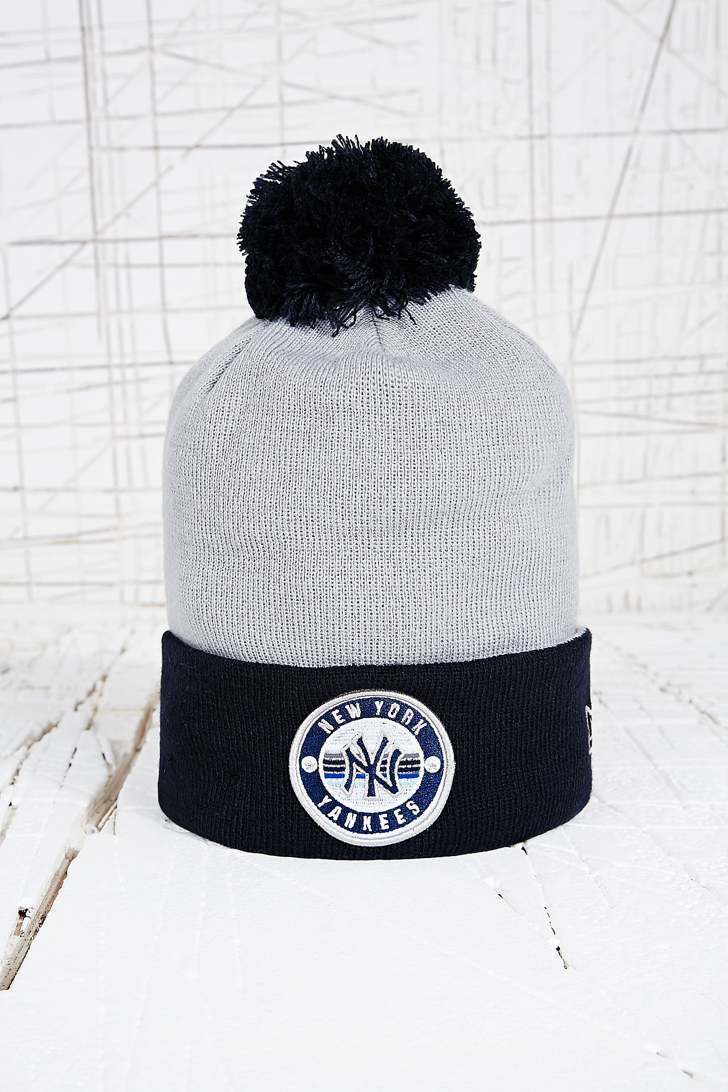 76cd52c3d36 New Era NY Yankees Bobble Beanie Hat. Click on image to zoom. Hover to  zoom. Double Tap to Zoom