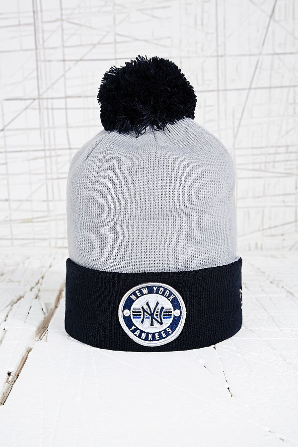 4c0c83a8463610 New Era NY Yankees Bobble Beanie Hat | Urban Outfitters UK