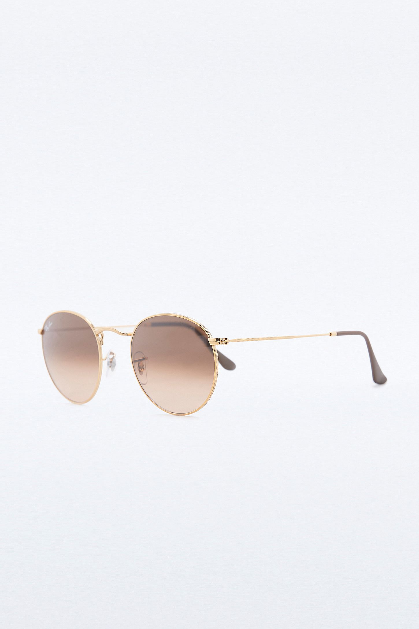 9212402a57d3 Ray-Ban Round Metal Shiny Light Bronze Sunglasses. Click on image to zoom.  Hover to zoom. Double Tap to Zoom