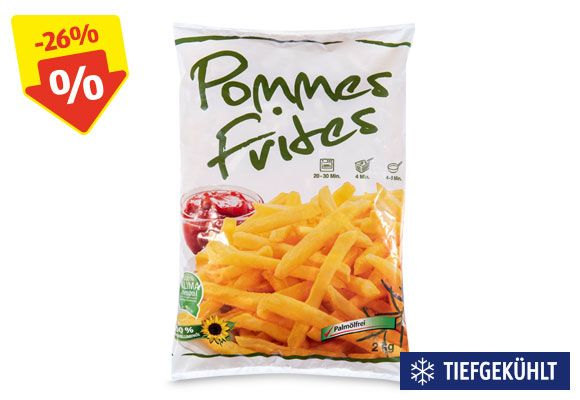 Eine Packung Pommes Frites Classic