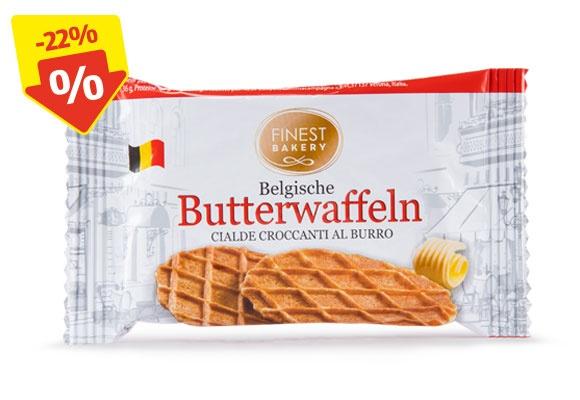 Eine Packung FINEST BAKERY Original Belgische Butterwaffeln
