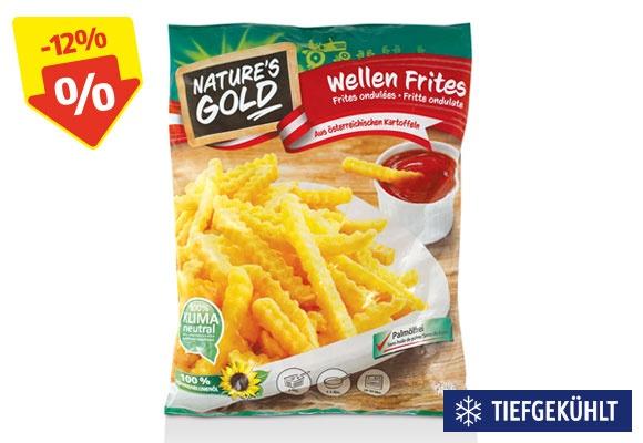 Eine Packung NATURE'S GOLD Wellen Frites